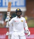 Oshada Fernando brings up his fifty, South Africa v Sri Lanka, 2nd Test, Port Elizabeth, Day 3, February 23, 2019