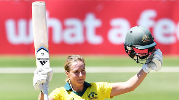 Ellyse Perry reached her maiden ODI century