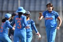 Jhulan Goswami took two wickets in her opening spell, India women v England women, 2nd ODI, Mumbai, February 25, 2019