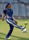 Harleen Deol warms up, India v England, 1st women's ODI, Mumbai, February 21, 2019
