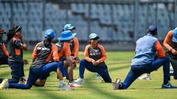 The Indians go through their paces at training