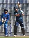 Natalie Sciver goes down the ground, India women v England women, 2nd ODI, Mumbai, February 25, 2019