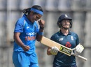 Shikha Pandey celebrates a wicket, India women v England women, 2nd ODI, Mumbai, February 25, 2019