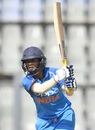 Mithali Raj powers one through the off side, India v England, 2nd women's ODI, Mumbai, February 25, 2019