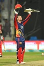 Colin Ingram celebrates his hundred, Karachi Kings v Quetta Gladiators, PSL 2019, February 24, 2019