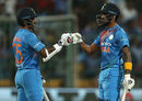 KL Rahul made 47 of the 61 he put on with Shikhar Dhawan, India v Australia, 2nd T20I, Bengaluru, February 27, 2019