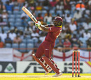 Darren Bravo cuts on his way to a fifty, West Indies v England, 4th ODI, Grenada, February 27, 2019