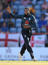Adil Rashid claims the key wicket of Jason Holder, West Indies v England, 4th ODI, Grenada, February 27, 2019
