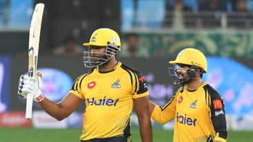 Kieron Pollard and Umar Amin hit unbeaten half-centuries