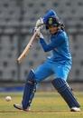 Smriti Mandhana plays one on the off side, India v England, 3rd women's ODI, Mumbai, February 28, 2019