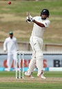 Jeet Raval pulls one on the way to his maiden Test century, New Zealand v Bangladesh, 1st Test, Hamilton, 2nd day, March 1, 2019