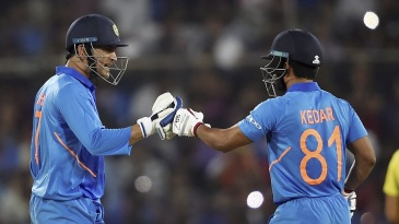MS Dhoni and Kedar Jadhav combined to help India pull off another chase