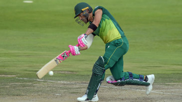 Faf du Plessis middles one on the front foot