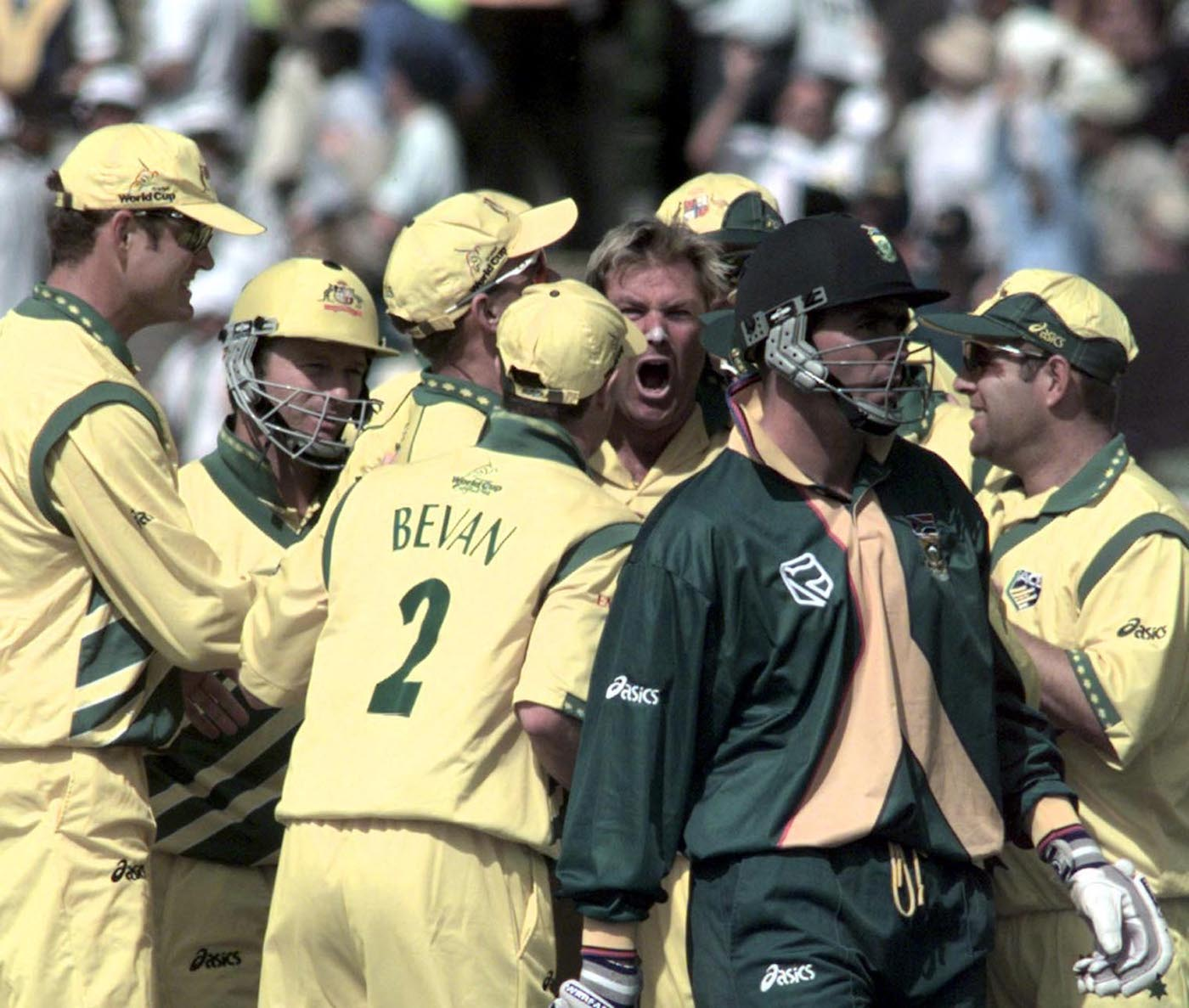 Scream with me, Edgbaston: Warne dismissed Hansie Cronje - his third wicket - for a duck