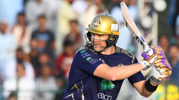 Shane Watson cuts one behind point