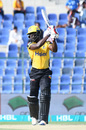 Andre Fletcher smashes one on the off side, Peshawar Zalmi v Quetta Gladiators, Pakistan Super League 2019, Abu Dhabi, March 4, 2019