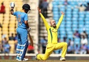Nathan Lyon appeals successfully, India v Australia, 2nd ODI, Nagpur, March 5, 2019