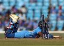 Vijay Shankar dives to make his ground, but in vain, Australia v India, 2nd ODI, Nagpur, March 5, 2019