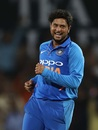 Kuldeep Yadav is elated after dismissing Glenn Maxwell, India v Australia, 2nd ODI, Nagpur, March 5, 2019