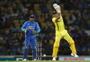 Marcus Stoinis plays one on the up, India v Australia, 2nd ODI, Nagpur, March 5, 2019