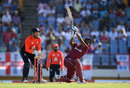 Nicholas Pooran swings across the line, West Indies v England, 1st T20I, St Lucia, March 5, 2019