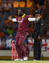 Ashley Nurse brings out a celebratory dance, West Indies v England, 1st T20I, St Lucia, March 5, 2019