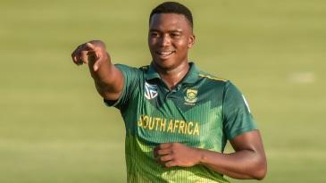 Lungi Ngidi celebrates a wicket