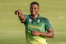 Lungi Ngidi celebrates a wicket, South Africa v Sri Lanka, 2nd ODI, Centurion, February 6, 2019