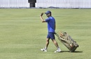 MS Dhoni wraps up a training session in Ranchi, India v Australia, 3rd ODI, Ranchi, March 7, 2019