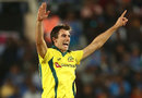 Pat Cummins appeals for a wicket, India v Australia, 3rd ODI, Ranchi, March 8, 2019