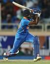 Vijay Shankar clobbers one onto the leg side, India v Australia, 3rd ODI, Ranchi, March 8, 2019