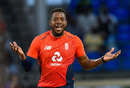 Chris Jordan ripped through West Indies' middle order, West Indies v England, 2nd T20I, , St Kitts, March 8, 2019