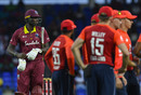 Jason Holder walks off after making a golden duck, West Indies v England, 2nd T20I, , St Kitts, March 8, 2019