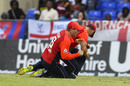 Eoin Morgan and Tom Curran collided going for a catch, West Indies v England, 2nd T20I, , St Kitts, March 8, 2019