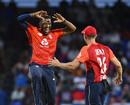 Chris Jordan claimed career-best figures of 4 for 6, West Indies v England, 2nd T20I, , St Kitts, March 8, 2019