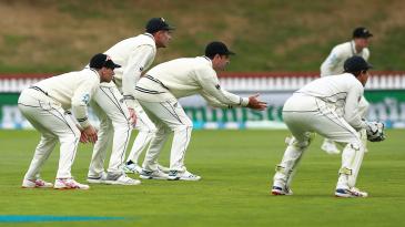 New Zealand's slip cordon waits for a chance