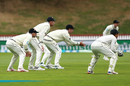 New Zealand's slip cordon waits for a chance, New Zealand v Bangladesh, 2nd Test, Wellington, 3rd day, March 10, 2019