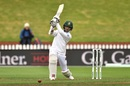 Shadman Islam plays a drive, New Zealand v Bangladesh, 2nd Test, Wellington, 3rd day, March 10, 2019