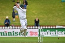 Tamim Iqbal is airborne while working one square off the wicket, New Zealand v Bangladesh, 2nd Test, Wellington, 3rd day, March 10, 2019