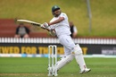 Soumya Sarkar plays a pull, New Zealand v Bangladesh, 2nd Test, Wellington, 3rd day, March 10, 2019