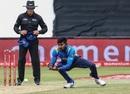 Kamindu Mendis fields off his own bowling, South Africa v Sri Lanka, 4th ODI, Durban, March 10, 2019
