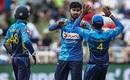Kamindu Mendis celebrates the wicket of Rassie van der Dussen, South Africa v Sri Lanka, 4th ODI, Durban, March 10, 2019