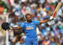 Shikhar Dhawan acknowledges the applause of the crowd, India v Australia, 4th ODI, Mohali, March 10, 2019