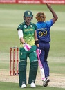 Lasith Malinga dismissed Faf du Plessis for 36, South Africa v Sri Lanka, 4th ODI, Durban, March 10, 2019