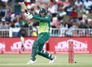 Dwaine Pretorius goes for the pull during his 31, South Africa v Sri Lanka, 4th ODI, Durban, March 10, 2019