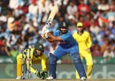 Rishabh Pant attempts a switch hit, India v Australia, 4th ODI, Mohali, March 10, 2019