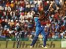 Vijay Shankar slaps a short ball down the ground, India v Australia, 4th ODI, Mohali, March 10, 2019