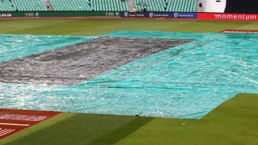 The covers come on at Kingsmead