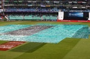 The covers come on at Kingsmead, South Africa v Sri Lanka, 4th ODI, Durban, March 10, 2019