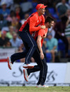 Mark Wood celebrates with Joe Root after dismissing Nicholas Pooran, West Indies v England, 3rd T20I, St Kitts, March 10, 2019